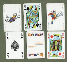 "Air line Collectable advertising playing cards. ""Lu's World"" Lufthansa"